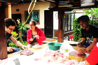 Balinese traditional cuisine cooking